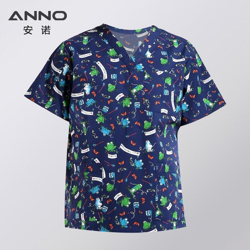 Image 5 - ANNO Medical Clothing Matching Women Men Cartoon  Hospital Nursing Scrubs Set Clinical Uniforms Surgical SuitScrub Sets   -