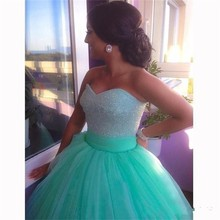 2015 Hot sale Stylish Wedding Dresses Sweetheart Backless Beading Tulle Ball Gown Wedding Bridal Gowns Formal Quinceanera Gowns