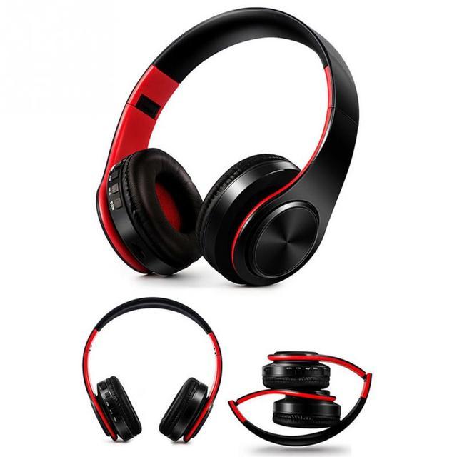 Nouveau Pliable Stéréo Audio Mp3 Bluetooth Casque Sans Fil Casque