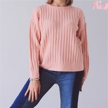Autumn And Winter Style Warm New Soft Pure Color Women Sweater