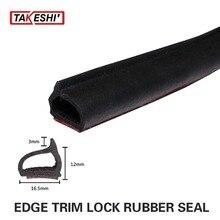 Car Universal Vehicle Interior Exterior Door Black Anti Noise Wind Strip Edge Trim 315″ 8M Rubber Edge Seal weatherstrip X D#