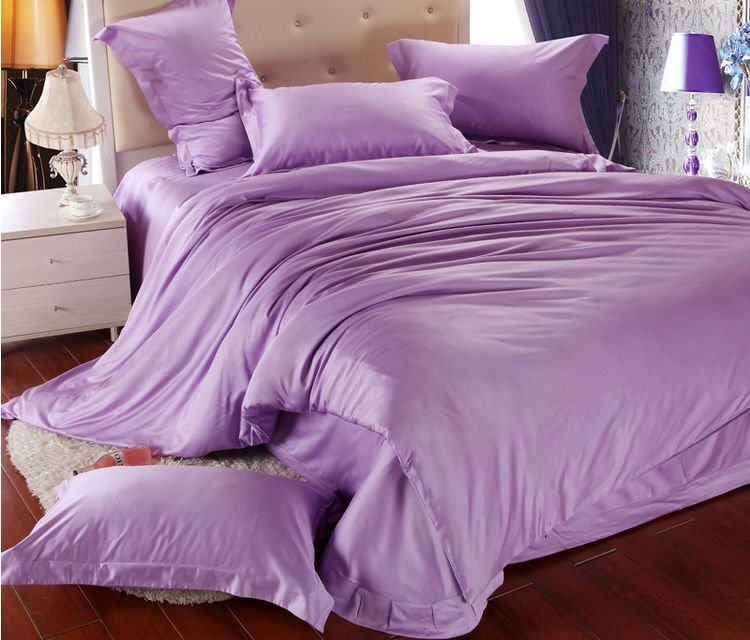 Tencel Purple King Size Comforter Bedding Sets Romantic