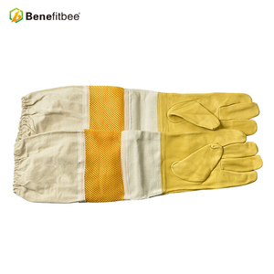 Image 4 - Top Brand Benefitbee Bee Gloves Beekeeping Glove Sheepskin New Vented Mesh Gloves with Long Sleeves Apicultura Bee Equipment