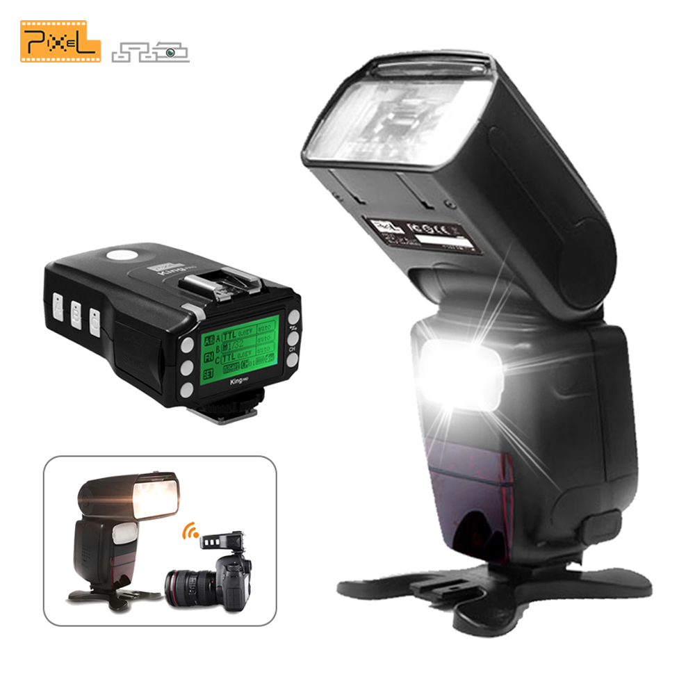 Pixel X900C Pro 2.4G Wireless Control Lithium Battery TTL Flash Speedlite with King Pro Flash Trigger Transceiver for Canon DSLR