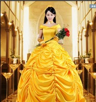 New 2017 Fantasia Women Halloween Cosplay Beauty And The Beast Adult Princess Belle Costume