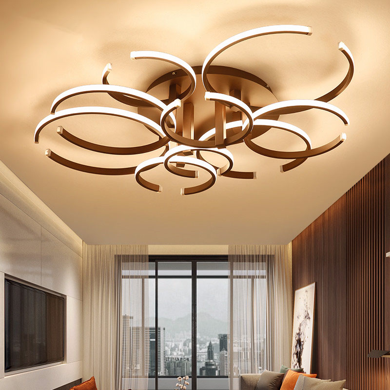 2018 Marrom/branco Luzes de Teto Modernas LEVARAM para sala de estar sala de jantar Quarto Luminária Criativa Lâmpada Do Teto plafonnier levou