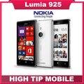 Dom gratuito! original nokia lumia 925 dual core 16 gb 8.7mp camera 4.5 polegada tela de toque microsoft janelas remodelados 8 inteligente telefone