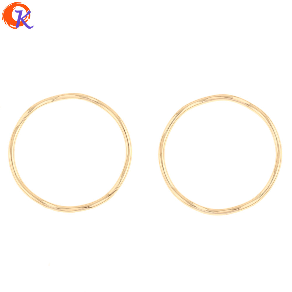 Cordial Design 100Pcs 28*28MM Jewelry Accessories/Earrings Connectors/Round Ring Shape/DIY Making/Hand Made/Earring Findings