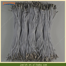 100 шт белый/черный тянущийся шнур эластичный шнур с металлической оплетка на шнурки на ювелирных аксессуарах