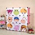 9 Кубов 2014 Новых детских Мультфильмов Пластиковый Шкаф Детский Гардероб Организатор Детский Шкаф