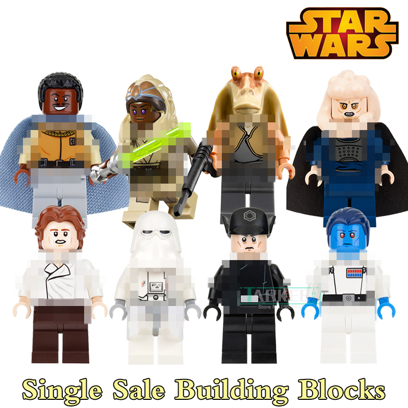 Building Blocks Jar Jar Binks  Grand Admiral Thrawn Snowtrooper Figures Star Wars Super Hero Bricks Kids DIY Toys Hobbies PG8050 single building blocks kits ninja pythor kozu lloyd zane nya figures super heroes star wars model bricks kids toys hobbies x0143