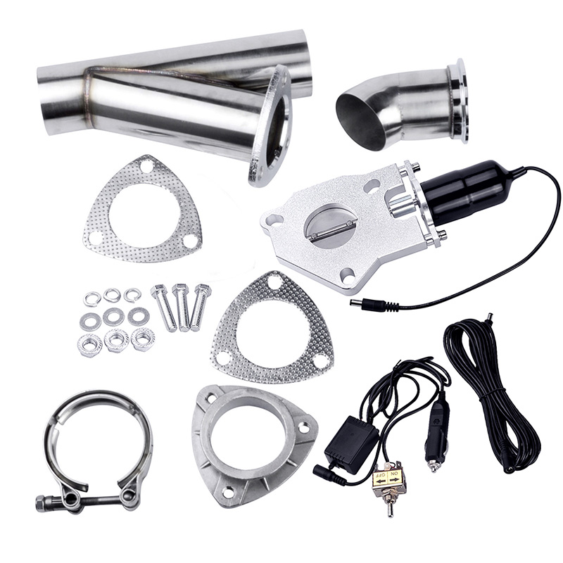 2.0 Inch System Remote Exhaust Catback Downpipe Cutout E Cut Valve Out  Muffler Bypass With Manual Switch Car Modified Part