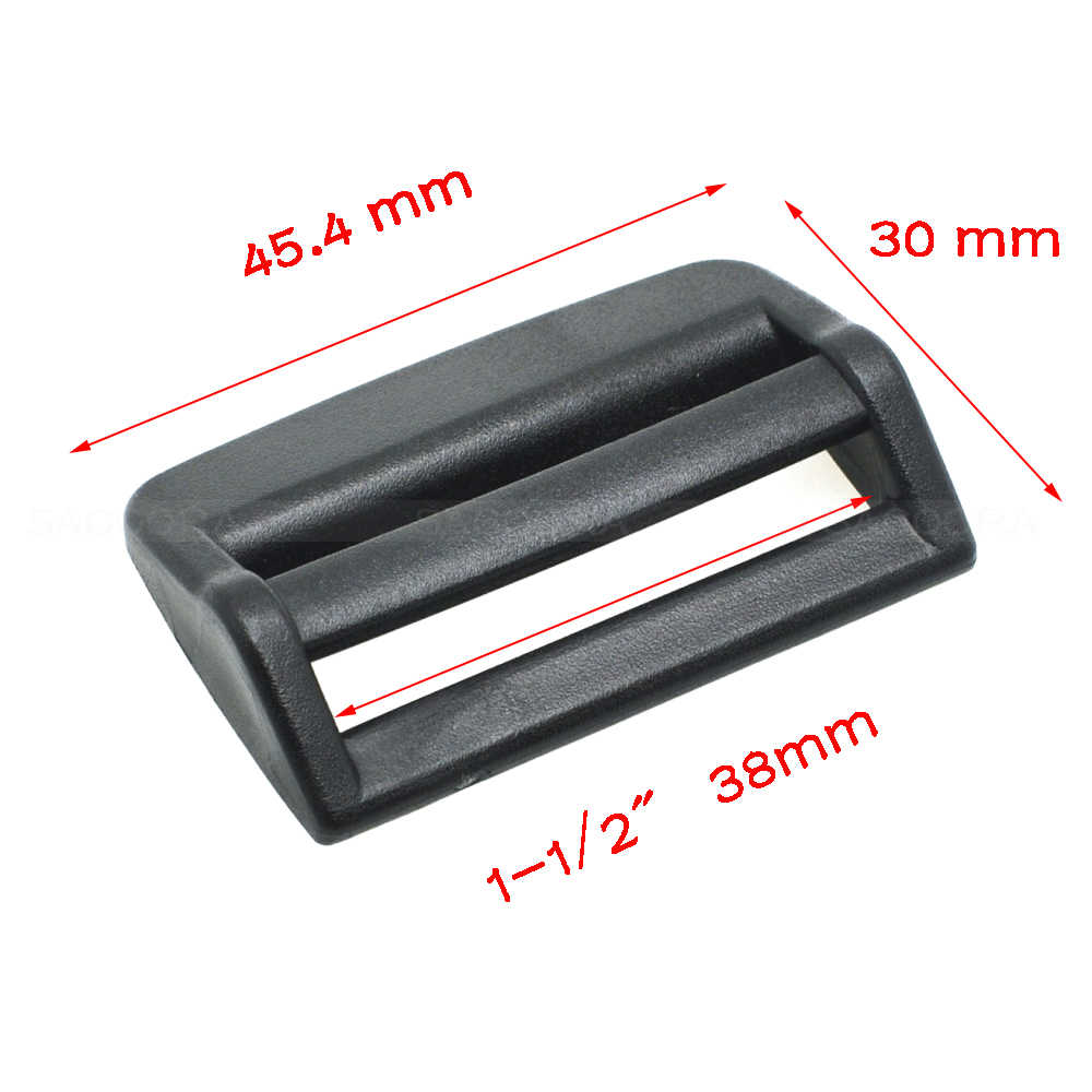 20mm 25mm 32mm 38mm Kunci Tangga TriGlide Slider Plastik Menyesuaikan Gesper untuk Ransel Luar Tali Anjing kerah