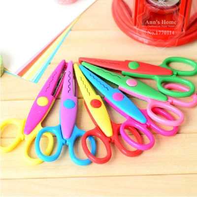Creative Lace Scissors Serrated Scissors School Office Supply Stationery Essential Home DIY Scrapbooking Stationery Set