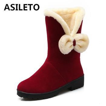 63ce1f6b9 ASILETO caliente-Botas de las mujeres pajarita invierno botas para la nieve  botas de mujer botas de invierno botas botines mujer bota femininas de  inver ...