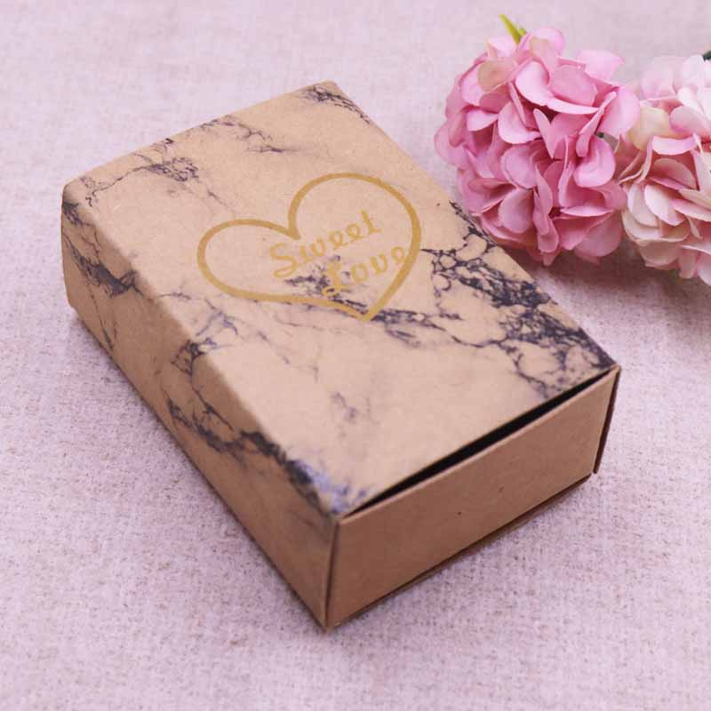 Rectangular Self Closing Gift Box Wedding or Party Favor Box Package of 10