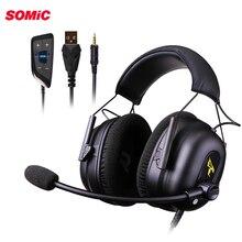 Somic G936N oyun kulaklığı oyun PS4 kulaklıklar 7.1 sanal 3.5mm kablolu PC Stereo mikrofonlu kulaklık için PS4 Xbox dizüstü