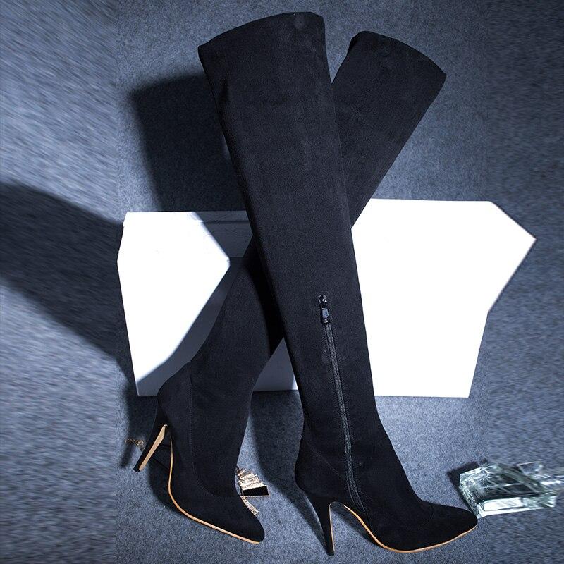 9c6ce8105fb04 NOWY styl OliviaPalermo kobiety kolana wysokie buty Długie buty Czerwone  dolne styl udo wysoki but kobieta długo prawdziwej skóry buty w NOWY styl  ...