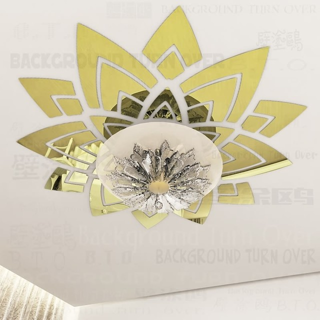 Online Shop Creative magnificent blossom large flower wall decals ...
