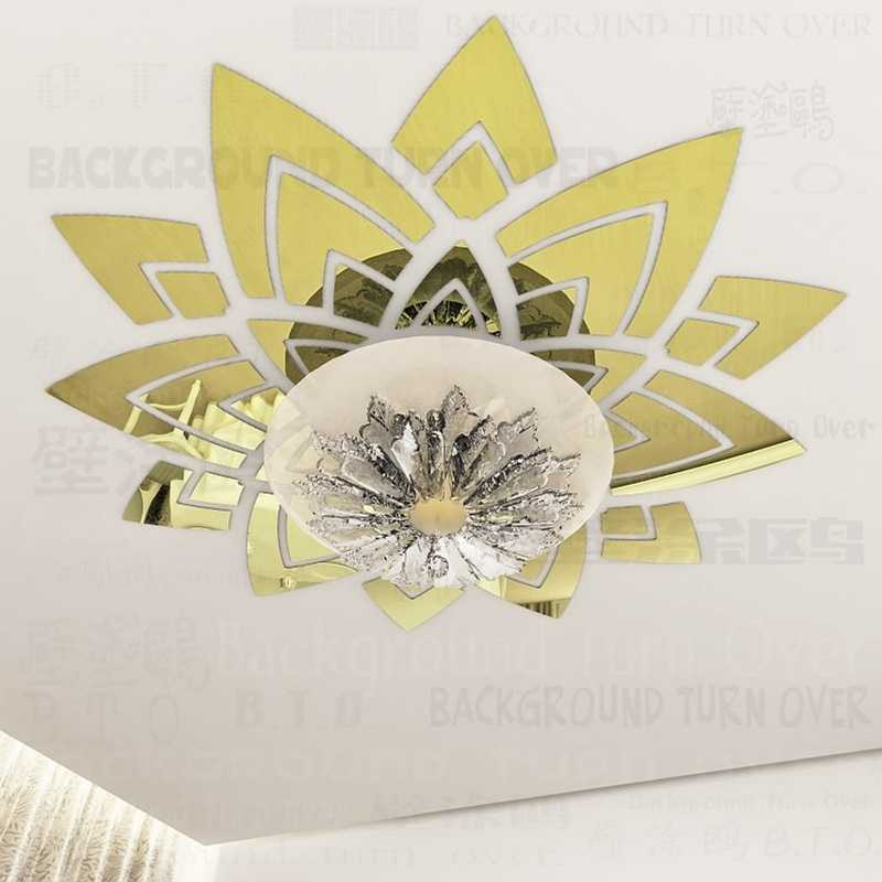Creative magnificent blossom large flower wall decals ceiling stickers decorative mirrors living room home bedroom decor R033