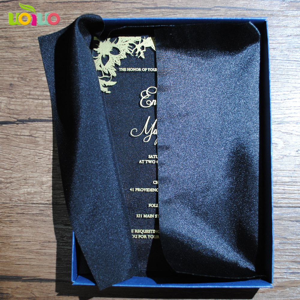 10pcs Newest Hot Sell Laser Cut Wedding Invitation Card  With Blank Wedding Box