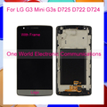 "5.0"" For LG G3 Mini G3s D725 D722 D724 G3 Beat Display LCD Touch Screen Digitizer Assembly+Frame Black White Gold Tracking Code"