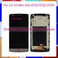 """5.0 """"para lg g3 mini g3s d725 d722 d724 g3 batida Display LCD Touch Screen Digitador Assembléia + Moldura Preta Ouro Branco Rastreamento código"""