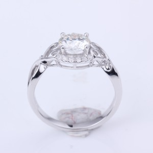 Image 2 - 1.0ct Moissanites diamond Engagement Rings for women 14k white gold Wedding rings female Jewelry top quality