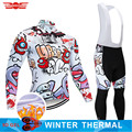 2019 inverno camisa de ciclismo 9d calças conjunto mtb engraçado bicicleta roupas ropa ciclismo jaqueta lã térmica dos homens ciclismo wear
