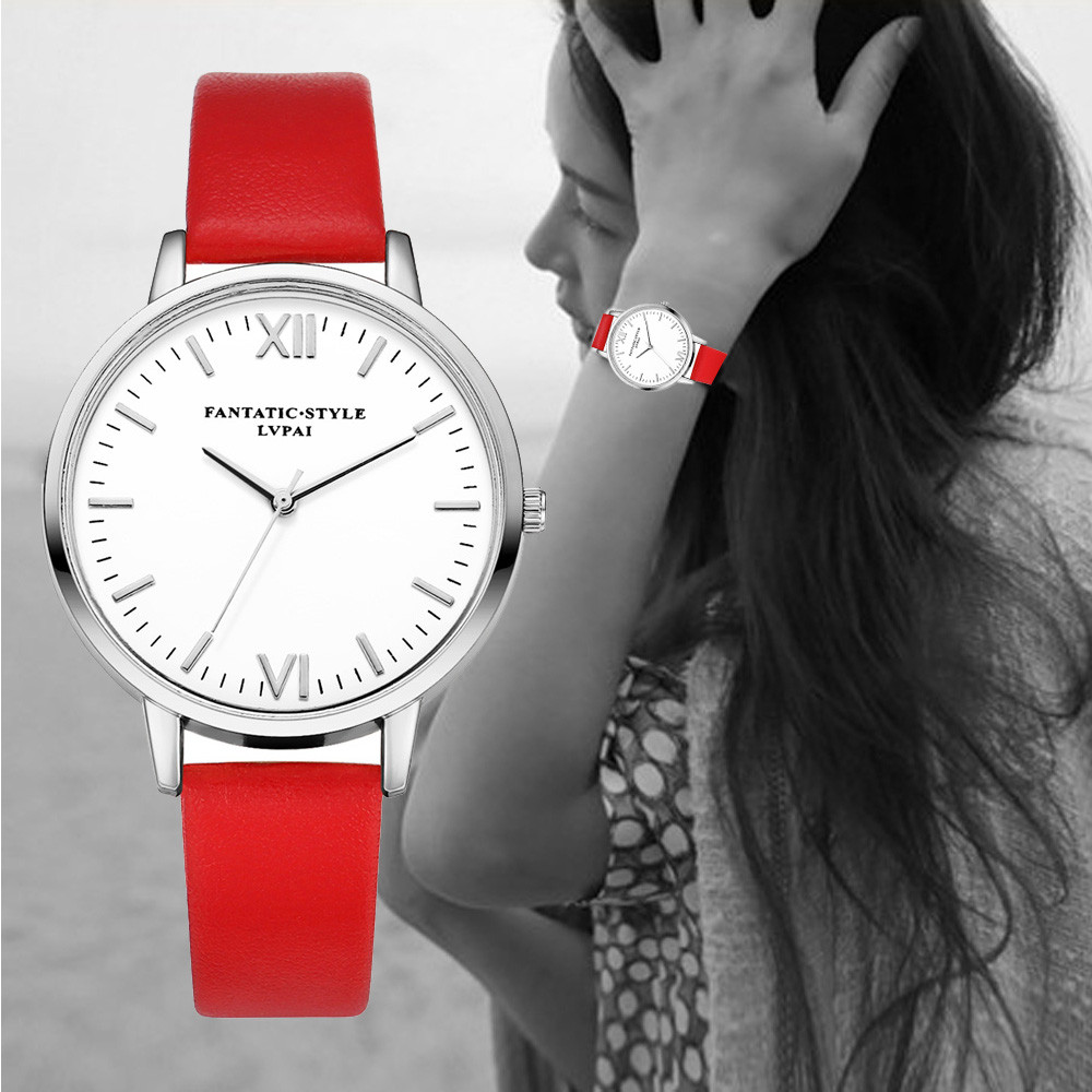 New Fashion Women Watch PU Leather Band Luxury Brans Casual Quartz dress watches Ladies bracelet Relogio Feminino Gift 2017 2016 new brand fashion retro style men dress quartz leather rivets bracelet watches women crystal casual relogio feminino watch
