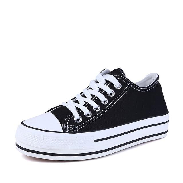 Новые Толстые подошве Холст обувь женщины плоские платформы дамы повседневная обувь белый моды зашнуровать обувь дышащий zapatos mujer