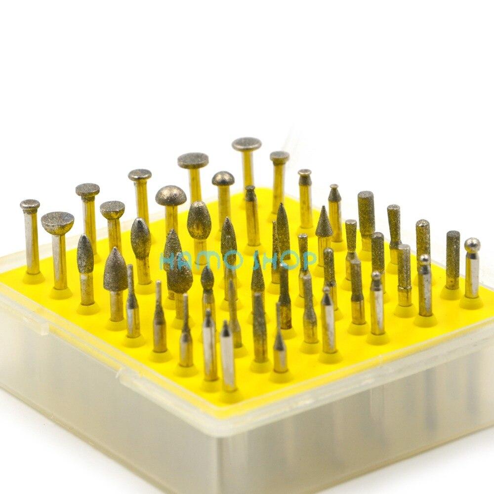Diamond Rotary Tools Set 50pcs Drill Sanding Accessory Burr Grinding Kit Wheel Style B