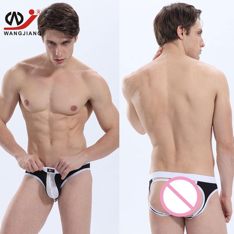 Gay Jockstrap Sexy Erotic Homens Gay Underwear Mens Thongs And G Strings Gay Underwear String Homme Nylon String Bikini 4002 SH