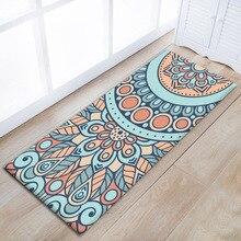 Zeegle Classical Pattern Corridor Mat Asorbent Household Long kitchen Floor Carpet Non-slip Area Rug For Bedroom Bedside Mats