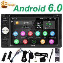 EinCar 2 Din Android 6.0 Car pc Stereo tape recorder DVD Player GPS Navi Auto Radio Support/WiFi/Mirrorlink/OBD2/SWC/Dual CAM-IN