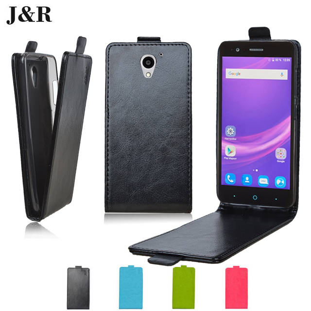 Leather Case For ZTE Blade A510 Leather Cover Case For ZTE A510 Protective Cover Flip Phone Bag J&R Brand
