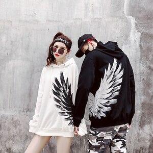 Image 4 - New 2018 Street wear Hoodies print Sweatshirt Mens Casual Brand Clothing Phoenix wings hip hop hoodies  tops Sweatshirts