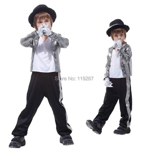 4ee530339864 Superstar Michael Jackson prestazioni vestiti di Halloween per bambini  cosplay costume cantante danza vestiti