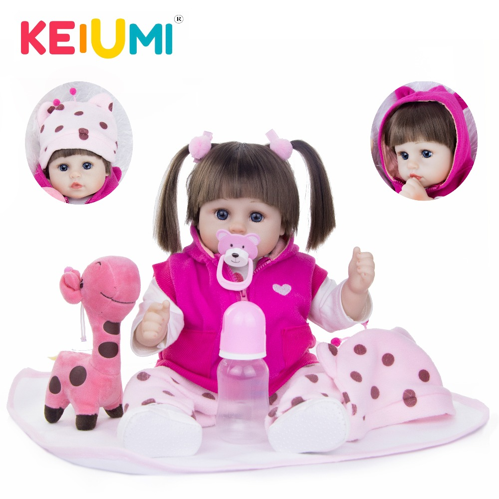 KEIUMI 18 New Design Boneca Reborn Menina Soft Silicone Fashion Reborn Baby Dolls Rooted Synthetic Hair For Birthday Gift ToysKEIUMI 18 New Design Boneca Reborn Menina Soft Silicone Fashion Reborn Baby Dolls Rooted Synthetic Hair For Birthday Gift Toys