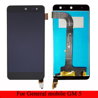 For General mobile GM 5 LCD Display +Touch Screen 100% tested Digitizer Assembly Replacement Accessories IN Stock