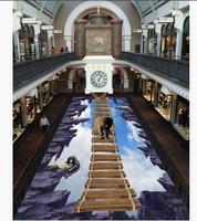 Home Decoration Blue Sky And White Clouds Elephant Orangutan Flooring Pvc Self Adhesive Wallpaper