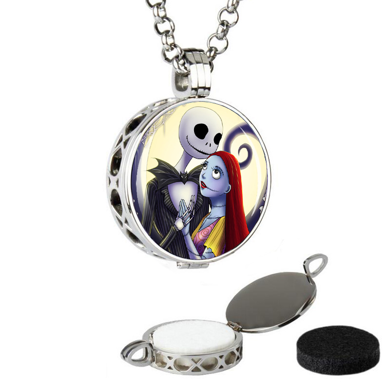 2016 stainless steel pendant fashion jewelry Essential Oil Diffuser round aromatherapy floating lockets with chain