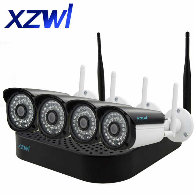 XZWL 960P ip camera kit 4ch NVR onvif HD wireless outdoor ...