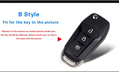Red Remote Keyless Entry Smart Key Case Shell Key Protector Key For Ford Edge Mustang Mondeo Everest Without Key Chain In Key Case For Car From Automobiles