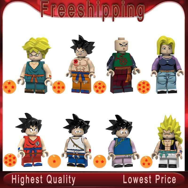 Single Sale Dragon Ball Z Sun Wutian Wu Tianx Trunks Sun Wukong Tianjin Rice Figures Building Blocks Gift Toy For Kids PG8166