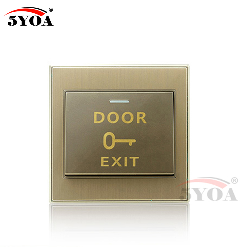 цена на 5YOA Door Exit Switch Release Push Button Switch COM NO NC three pins with copper material for Door Lock Access Control System