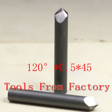 Free Shipping CNC Stone Material Carving Cutting Diamond Cutting Tool Rectangular Lettering Knife 120Deg 0.5mm Tip 45mm Length