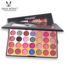 MISS ROSE 35 Colors Hot Eye Shadow Palette Matte Shimmer Pearl Light Earth Color Eye Shadow Girl Makeup Palette miss rose 4 color gold pearl gloss matte shadow natural nude makeup earth color portable shadow tray beauty