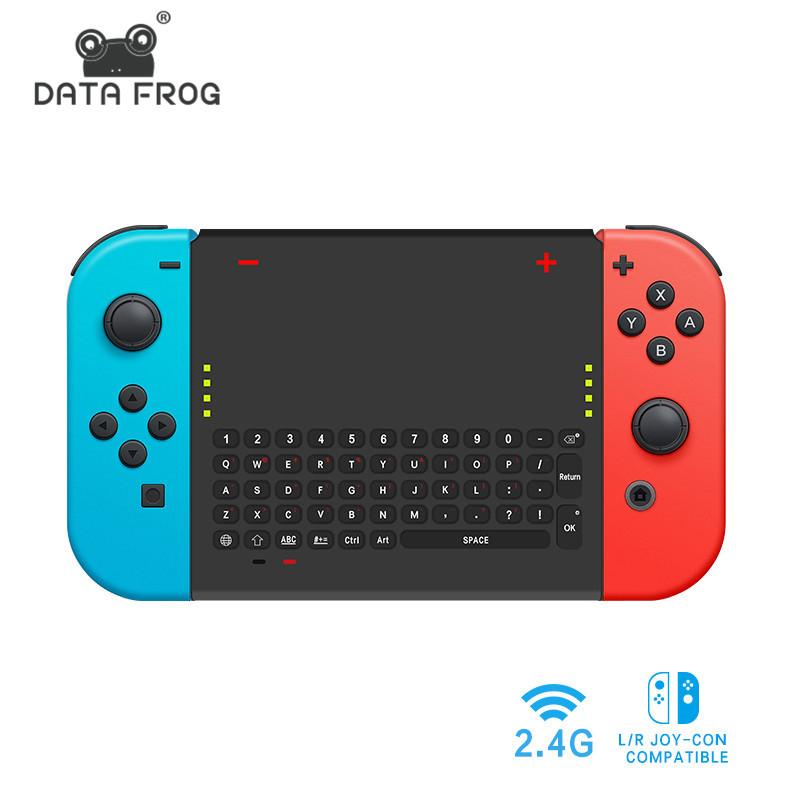Us 18 2 32 Off Data Frog 2 4 G Wireless Game Keyboard For Nintend Switch Mini Gaming Keyboard Controller For Joy Con Ns Console In Gamepads From