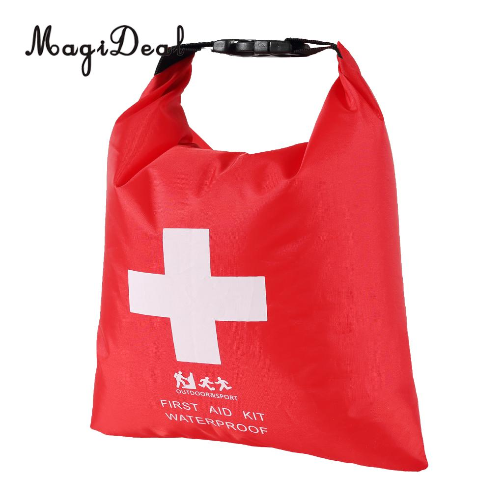 MagiDeal Waterproof First Aid Emergency Dry Bag Sack Travel Rafting Drifting Canoeing Red Cross 1.2L
